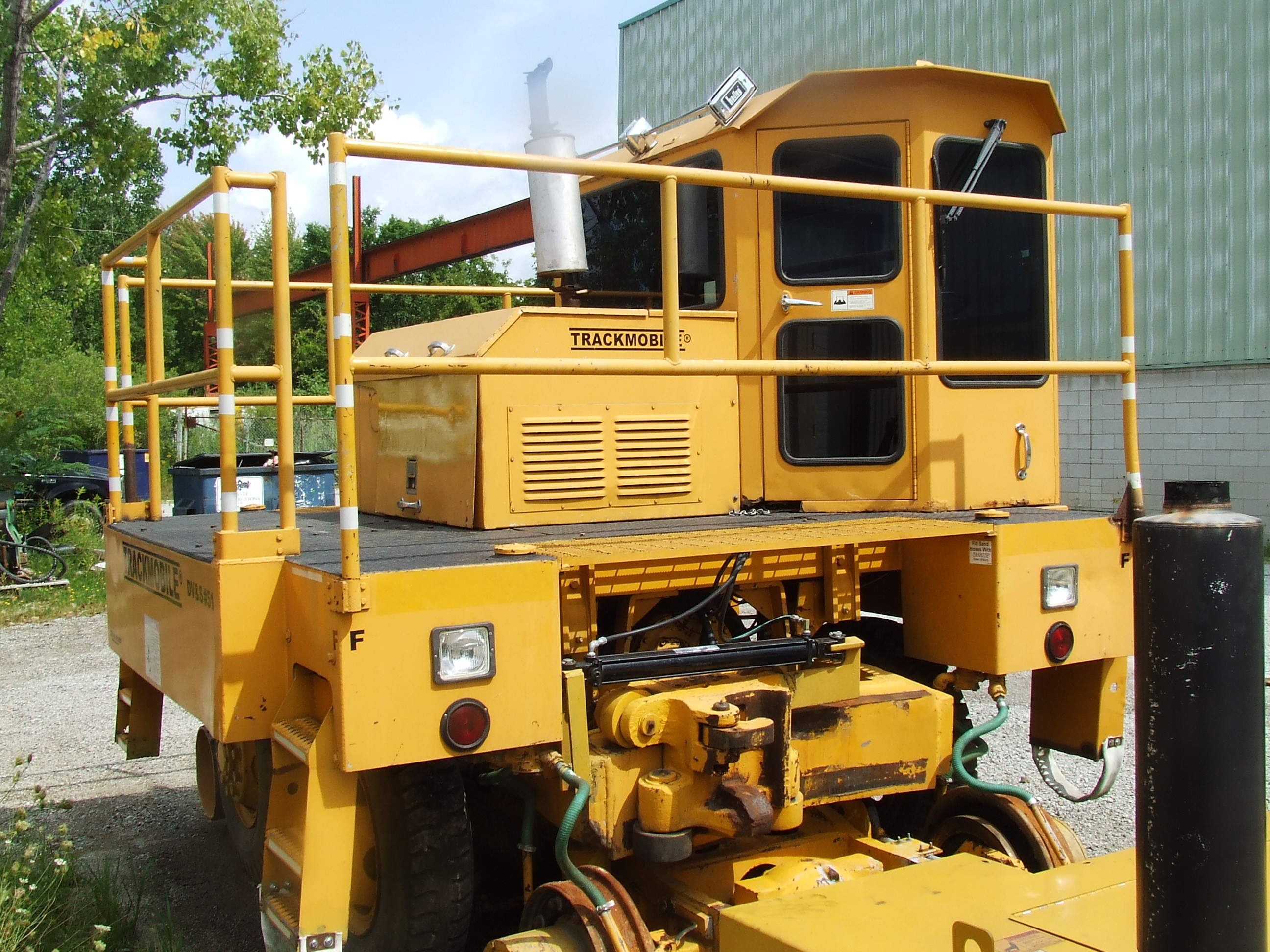 front view of 1980 9TM Trackmobile Railcar Mover