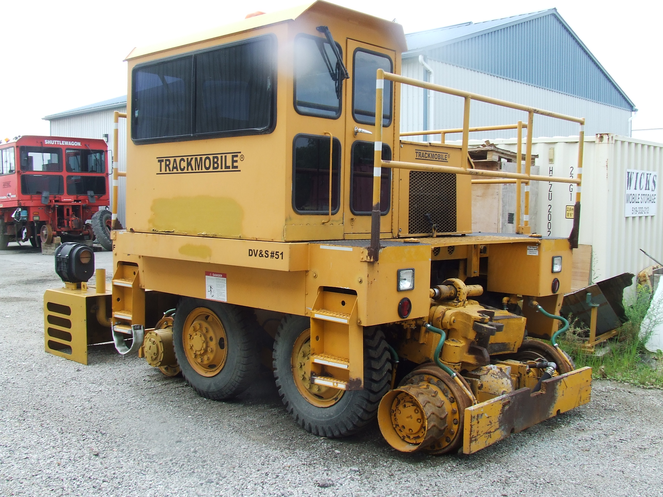 view of 1980 9TM Trackmobile Railcar Mover